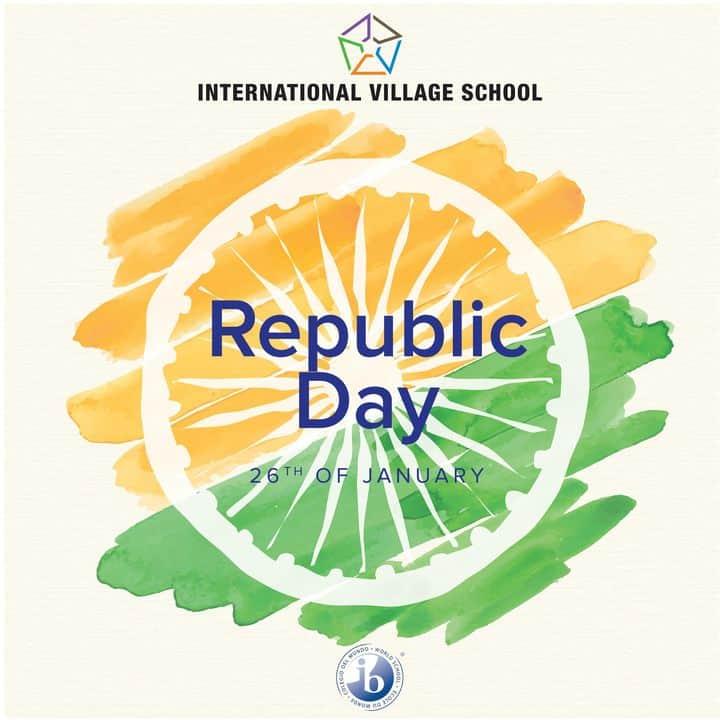 Republic day Banner prepared by the International Village School, the best IGCSE board school as a mark of Celebration by the school