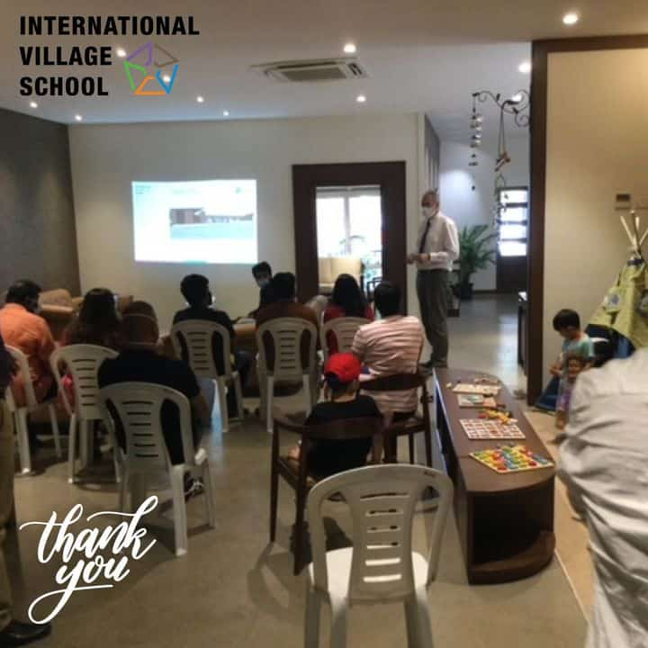 All about IB Curriculum & Campus was detailed out by one of the Faculty of International Village schools in the form of presentation with few audience attending the same